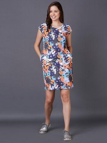 MARCA DISATI   Graphic Print Shift Dress
