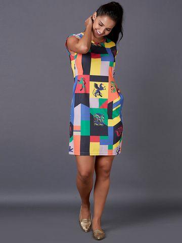 MARCA DISATI   Knitted Graphic Print Short Dress