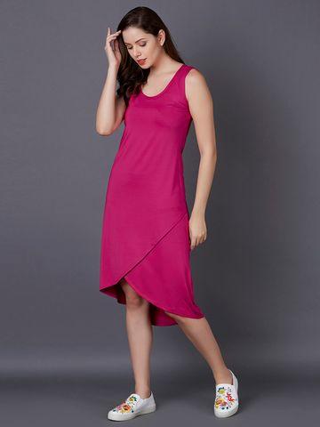 MARCA DISATI | Sleeveless Overlay Shift Dress