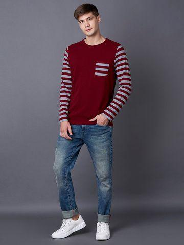 MARCA DISATI   Wine Striped T-Shirt