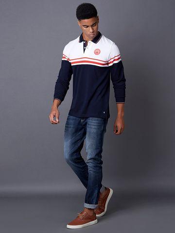 MARCA DISATI | Navy Striped Polo T-Shirt