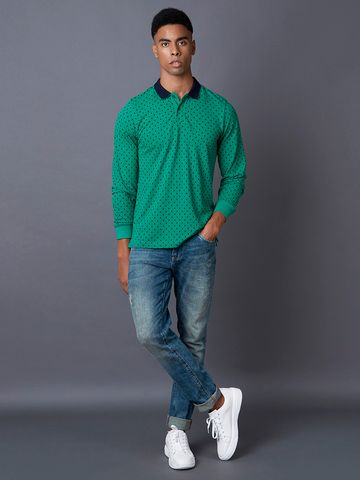 MARCA DISATI | Emerald Printed Polo T-Shirt