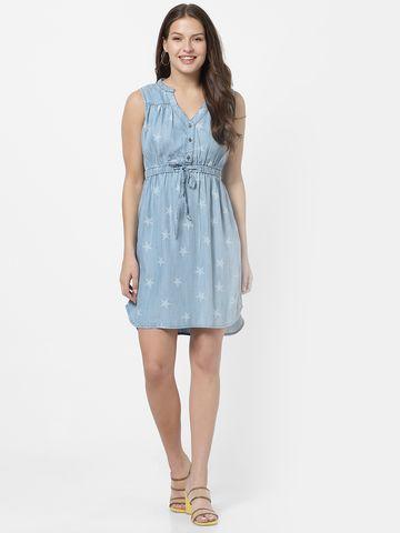 MARCA DISATI   Sleeveless Short Denim Dress
