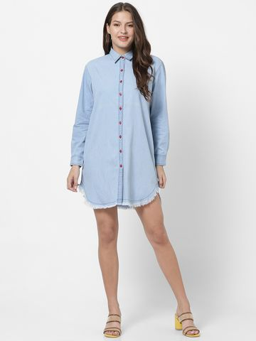 MARCA DISATI | Full Sleeves Denim Shirt Dress