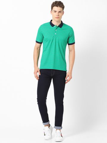 MARCA DISATI | Contrast Collar Yarn Dyed Polo