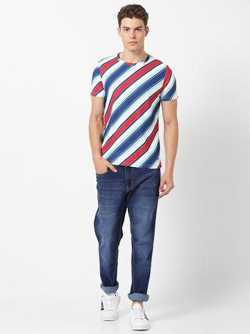 MARCA DISATI   Crew Neck Striped T-shirt