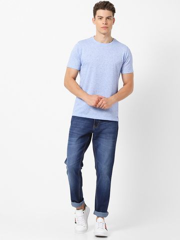 MARCA DISATI | Crew Neck Linen Blend T-Shirt
