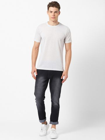 MARCA DISATI | Linen Blend Textured Fabric T-Shirt