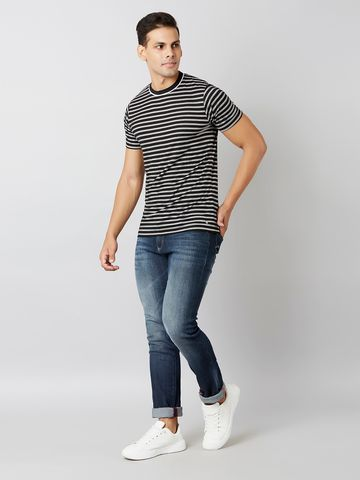 MARCA DISATI | Striped Regular Fit T-Shirt