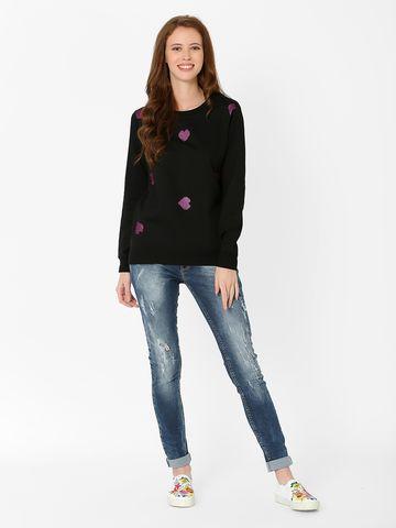 MARCA DISATI | Heart Print Sweatshirt
