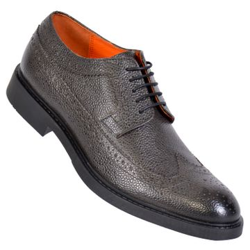 MASABIH   MASABIH Genuine Leather Men's Navy Lace-Up Formals