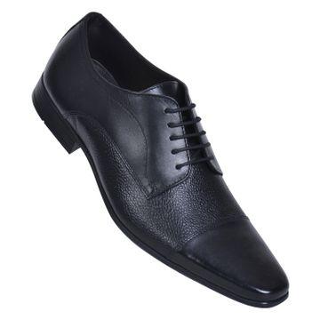 MASABIH | MASABIH Genuine Leather Men's GREY / BLACK Lace-Up Formals