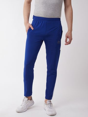 Masch Sports | Masch Sports Men's Regular Fit Royal Blue Soft Polyester Track Pants
