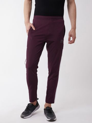 Masch Sports | Masch Sports Men's Regular Fit Maroon Soft Polyester Track Pants