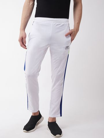 Masch Sports | Masch Sports Men's Regular Fit White Soft Polyester Track Pants