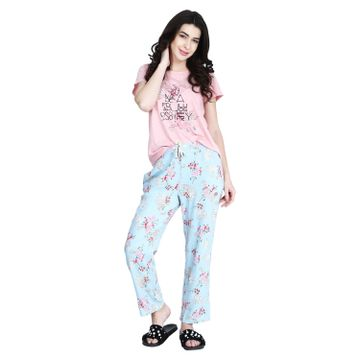 MAYSIXTY | Maysixty Cotton Printed Top and Pyjama set For Women's
