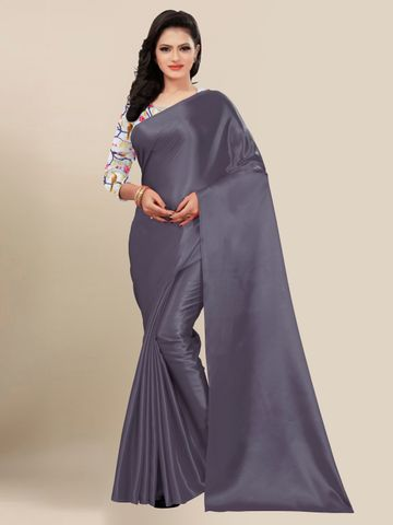SATIMA | FANCY GREY SOLID CASUAL WEAR SAREE