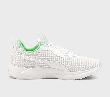 Puma | PUMA Resolve Puma White-Elektro Green RUNNING SHOE