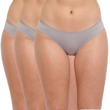 BASIICS by La Intimo | Spank Me (Naughty) Thong Grey (Pack of 3)