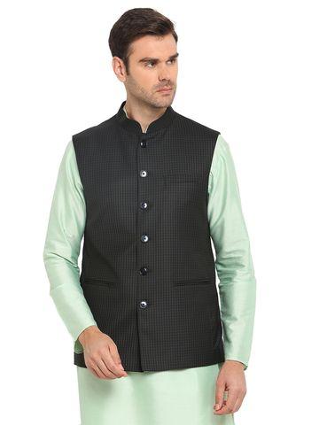 Modi Jacket | MJK051-NAVY GREEN CHECKS