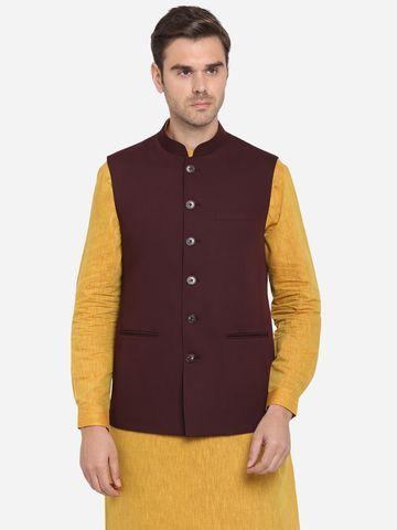 Modi Jacket | MJK116-WINE TEXTURED