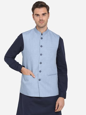 Modi Jacket | MJK115-ICE BLUE SELF