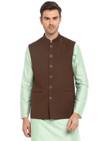 Modi Jacket | MJK133-BROWN SELF TEXTURED