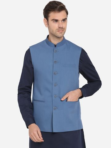 Modi Jacket | MJK122-AEGEAN BLUE SELF