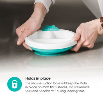 Mothercare | bbluv - Plato - Warming Plate - 3 Compartment, Non-Toxic, BPA Free with Suction Base (Pink)