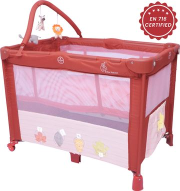Mothercare | R For Rabbit Hide And Seek Baby Travel Cot Maroon
