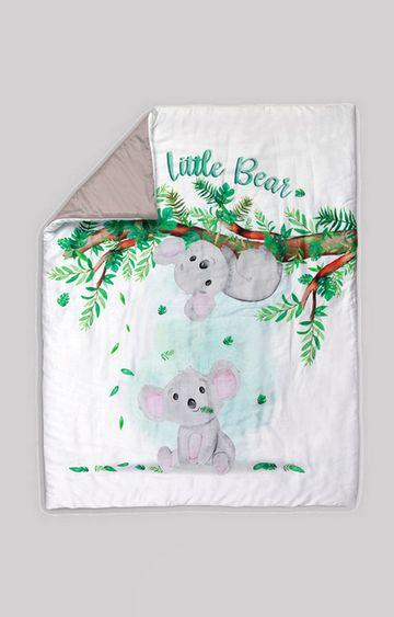 Mothercare   White Fancy Fluff Organic Toddler Comforter - Koala