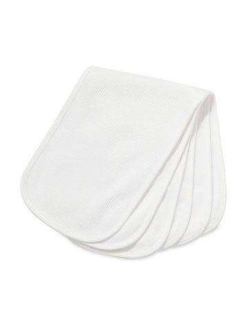 Mothercare | White Textured Burp Cloths - Pack of 3