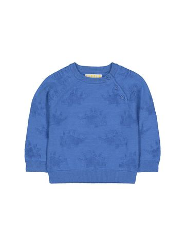Mothercare   Blue Knitted Dino Jumper
