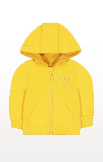 Mothercare | Mustard Marl Heart Zip-Through Hoodie