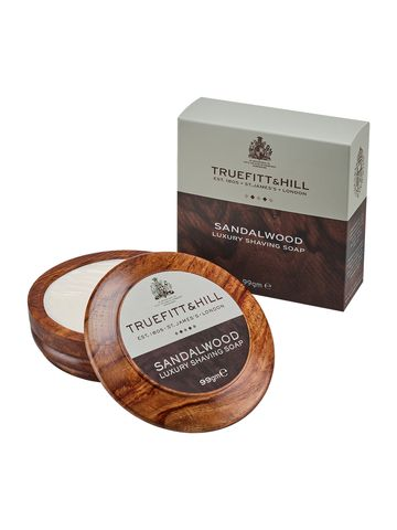 Truefitt & Hill | Sandalwood Luxury Shaving Soap in Wooden Bowl