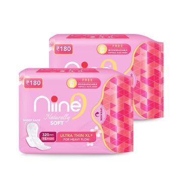 NIINE | Niine Naturally Soft Ultra Thin XL+ SUPER SAVER PACK Sanitary Napkins