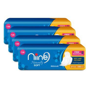 NIINE | Niine Naturally Soft Regular Sanitary Pads for Women