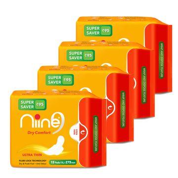 NIINE | Niine Ultra Thin Sanitary Pads for Women (Pack of 4)