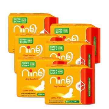 NIINE | Niine Ultra Thin Sanitary Pads for Women (Pack of 6)