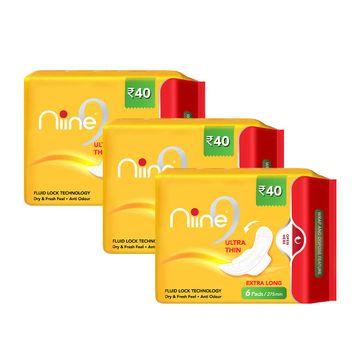 NIINE   Niine Ultra Thin Sanitary Pads for Women (Pack of 3)