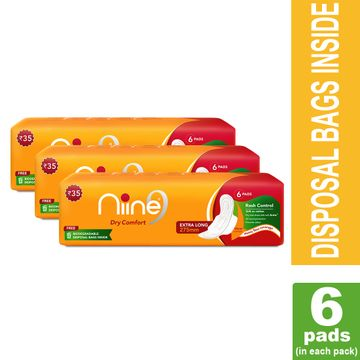 NIINE | Niine Extra Long Sanitary Pads for Women (Pack of 3)