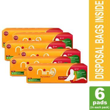 NIINE   Niine Extra LongSanitary Pads for Women (Pack of 6)