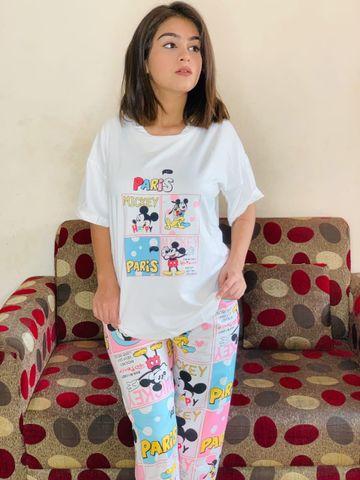 SIMARAA FAB   Simaraa Women Cotton Stretchable Nightsuit