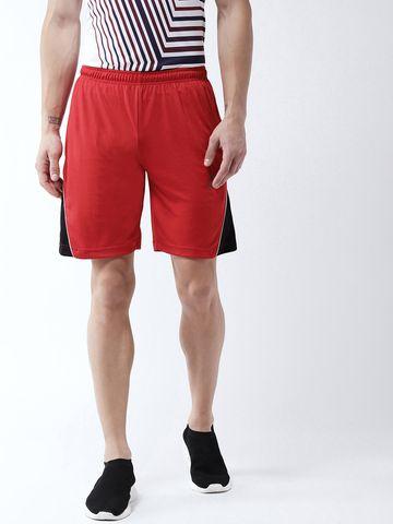 Masch Sports | Masch Sports Men's Gym Shorts Regular Fit Polyester (MSSH-0619-CS-ST-REDBLK_S_Red,Black_S)