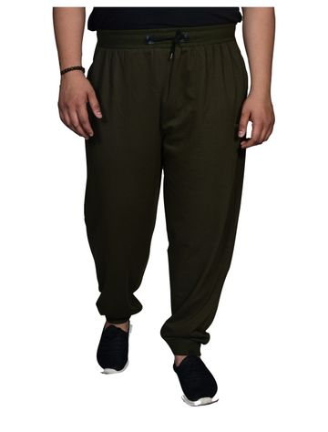 XMEX | Xmex Plus Size Olive Green Jogger Style Two Side Zipper Pockets for Men
