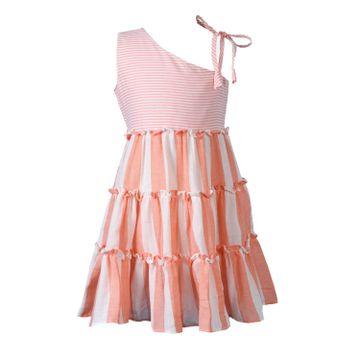 Popsicles Clothing | Popsicles Apricot Dress Regular Fit Dress For Girl
