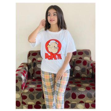 SIMARAA FAB | Simaraa Women Cotton Stretchable Nightsuit