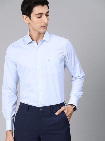 The Bear House   Men's French-Cuff Formal Shirt