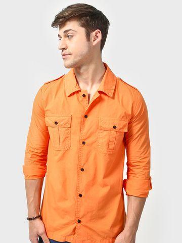 Blue Saint |  Blue Saint Men's Orange  Regular Fit Jackets