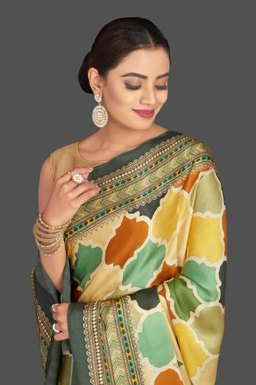 SATIMA | Satima Satin printed saree